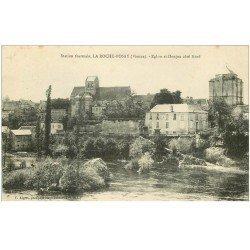 carte postale ancienne 86 LA ROCHE POSAY. Eglise et Donjon