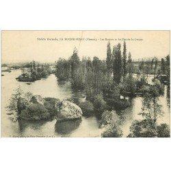 carte postale ancienne 86 LA ROCHE POSAY. Roches et Iles de la Creuse