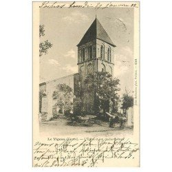 carte postale ancienne 86 LE VIGEAN. Eglise et son Clocher 1902