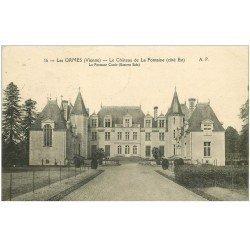 carte postale ancienne 86 LES ORMES. Château de La Fontaine 1923