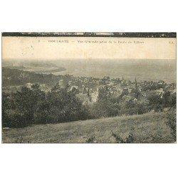 carte postale ancienne 14 HOULGATE. Panorama pris Route de Villers 1928