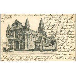 carte postale ancienne 86 POITIERS. Carte Pionnière 1901 Eglise Notre Dame la Grande