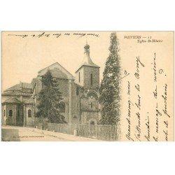 carte postale ancienne 86 POITIERS. Carte Pionnière 1901 Eglise Saint Hilaire