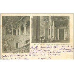 carte postale ancienne 86 POITIERS. Carte Pionnière 1901 Hôtel de Ville Vestibule Salle des Fêtes