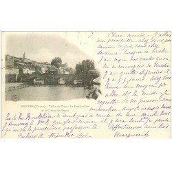 carte postale ancienne 86 POITIERS. Carte Pionnière 1901 Pont Joubert et Côteau des Dunes Vallée du Clain