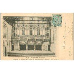carte postale ancienne 86 POITIERS. Carte Pionnière 1904 Cheminées et Verrières Salle des Pas Perdus Palais de Justice