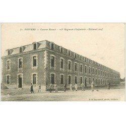 carte postale ancienne 86 POITIERS. Caserne Rivaud 125 Régiment Infanterie 1918 Militaires et Soldats