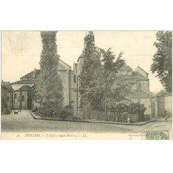 carte postale ancienne 86 POITIERS. Eglise Saint-Hilaire 1906
