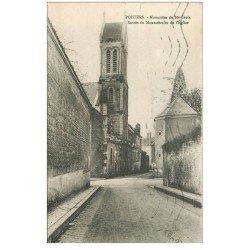 carte postale ancienne 86 POITIERS. Entrée Eglise Monastère de Sainte Croix 1950