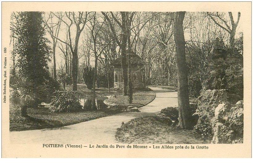 86 poitiers jardin parc blossac all es pr s de la grotte 1926 for Jardin 86