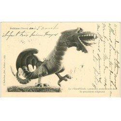 carte postale ancienne 86 POITIERS. La Grand Goule pendant les Processions 1903