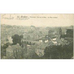 carte postale ancienne 86 POITIERS. Le Pont Joubert vue sur le Clain. Tampon militaire 1917