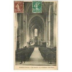carte postale ancienne 86 POITIERS. Nef Cathédrale Saint Pierre 1927