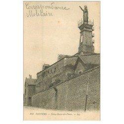 carte postale ancienne 86 POITIERS. Notre Dame des Dunes. Tampon militaire 1917