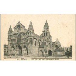 carte postale ancienne 86 POITIERS. Notre Dame la Grande