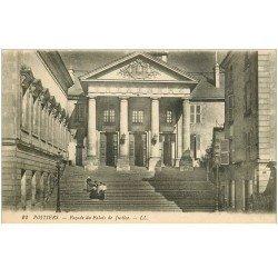 carte postale ancienne 86 POITIERS. Palais de Justice la Façade
