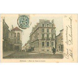 carte postale ancienne 86 POITIERS. Palais de Justice la Place 1904