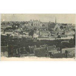 carte postale ancienne 86 POITIERS. Panorama 1919 fine plissure