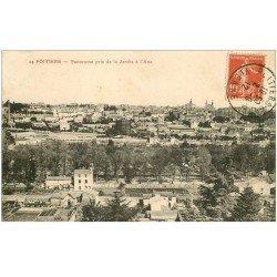 carte postale ancienne 86 POITIERS. Panorama pris de la Jambe à Ane 1912