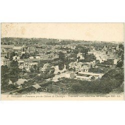 carte postale ancienne 86 POITIERS. Panorama pris du Château vers 1920