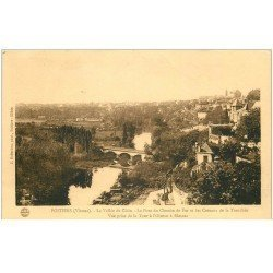 carte postale ancienne 86 POITIERS. Pont Chemin de Fer Coteaux Tranchée Vallée du Clain