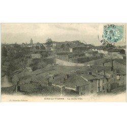 carte postale ancienne 87 AIXE SUR VIENNE. La Vieille Ville 1904