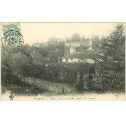 carte postale ancienne 87 AIXE SUR VIENNE. Moulin de la Berth 1904