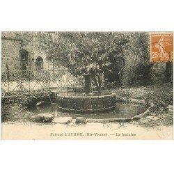 carte postale ancienne 87 AUREIL. La Fontaine du Prieuré