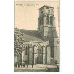 carte postale ancienne 87 BELLAC. Eglise Notre Dame animation