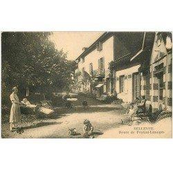 carte postale ancienne 87 BELLEVUE. Route de Feytiat Limoges