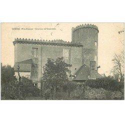 carte postale ancienne 87 CUSSAC. Château de Cromières 1913 écrite à Madame Cussac...