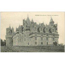 carte postale ancienne 87 CUSSAC. Château de Lambertie 1913 écrite à Monsieur Cussac...