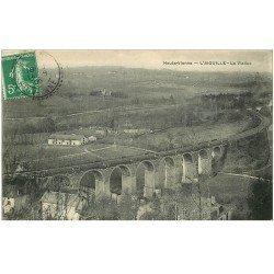 carte postale ancienne 87 L'AIGUILLE. Le Viaduc et le Chemin de Fer 1909