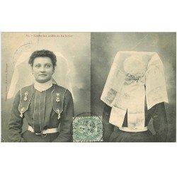 carte postale ancienne 87 LE LIMOUSIN. Limousine coiffée du Barbichet 1910