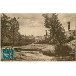 carte postale ancienne 87 LE LIMOUSIN. Paysage et ruisseau 1924