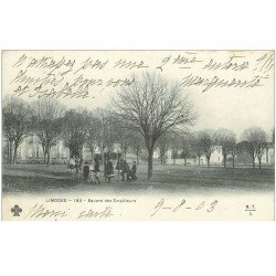 carte postale ancienne 87 LIMOGES. Animation Square des Emailleurs 1903