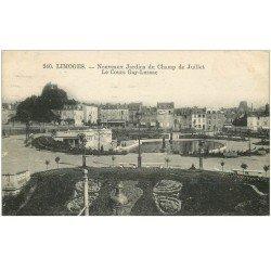 carte postale ancienne 87 LIMOGES. Cours Gay Lussac Jardins du Champ de Juillet 1931