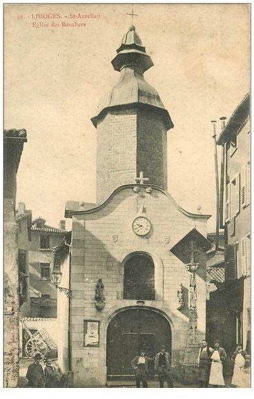 carte postale ancienne 87 LIMOGES. Eglise des Bouchers Saint Aurélien