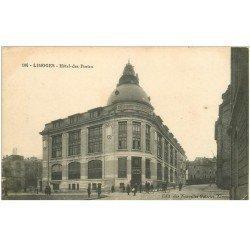 carte postale ancienne 87 LIMOGES. Hôtel des Postes. Tampon militaire Service des vivres 1915