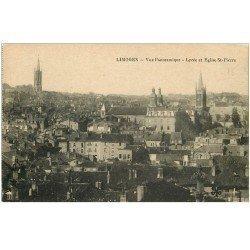 carte postale ancienne 87 LIMOGES. Lycée et Eglise Saint Pierre
