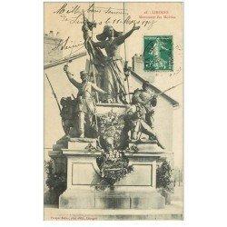 carte postale ancienne 87 LIMOGES. Monument des Mobiles 1908
