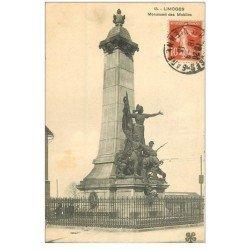 carte postale ancienne 87 LIMOGES. Monument des Mobiles 1913