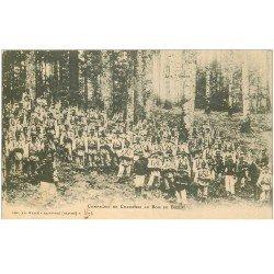 carte postale ancienne 88 BOIS DE BOZEY. Compagnie de Chasseurs 1905