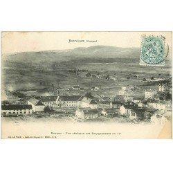 carte postale ancienne 88 BRUYERES EN VOSGES. Vue des Baraquements 1906