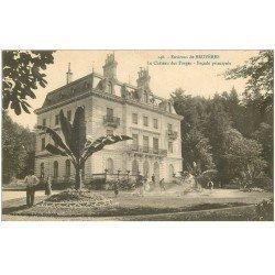 carte postale ancienne 88 BRUYERES. Château des Forges avec Jardiniers
