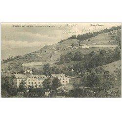 carte postale ancienne 88 BUSSANG. Grand Hôtel des Sources et le Charat 1905