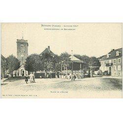 carte postale ancienne 88 BUSSANG. Kiosque à Musique Place de l'Eglise