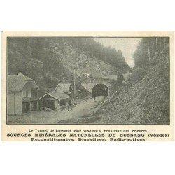 carte postale ancienne 88 BUSSANG. Le Tunnel. Carte réponse Sources Minérales Naturelles