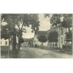 carte postale ancienne 88 BUSSANG. Place et Rue de la Mairie