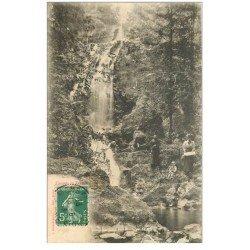 carte postale ancienne 88 CASCADE DE TENDON. Belle animation 1913. Timbrée mais verso vierge